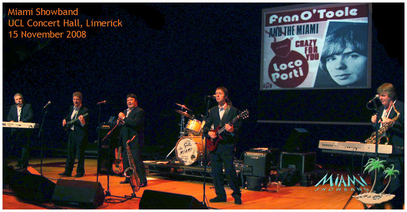 Miami Showband UCL Concert Hall, Limerick 15 Nov 2008