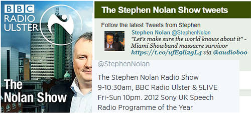 Stephen Travers On BBC Radio Ulster