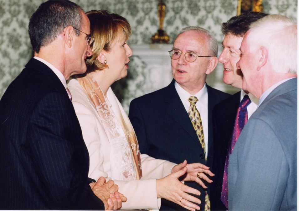 Stephen Travers and President Mary McAleese