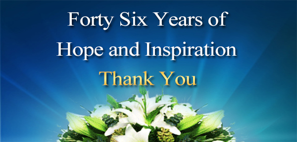 Forty Six years of Hope and Inspiration